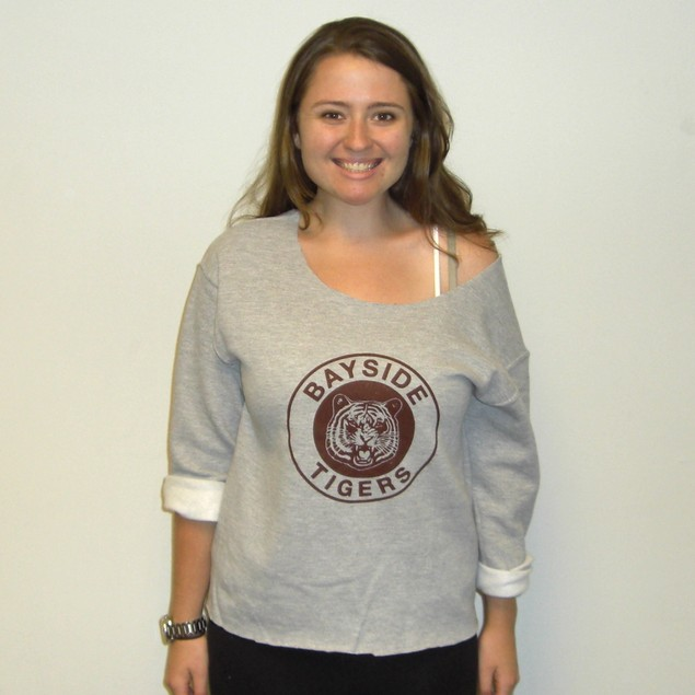Kelly Kapowski Bayside Tigers Cut Sweatshirt
