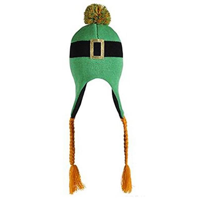 Leprechaun Tassel Hat Laplander Knit Beanie St. Patrick's Day Irish Costume