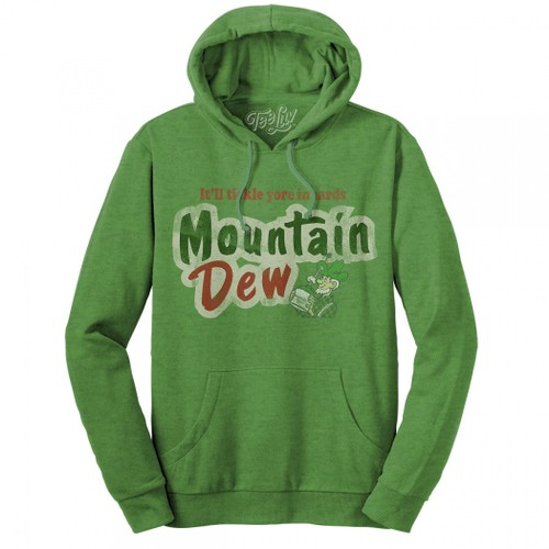 Mountain Dew Throwback Text Brand Hoodie