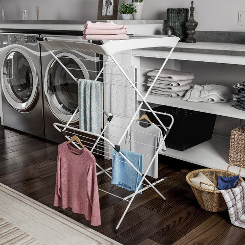 Clothes Drying Rack  2 Tiered Laundry Sorter with Rust Resistant Frame