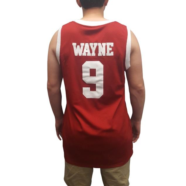 Dwayne Wayne #9 Hillman Red Basketball Jersey