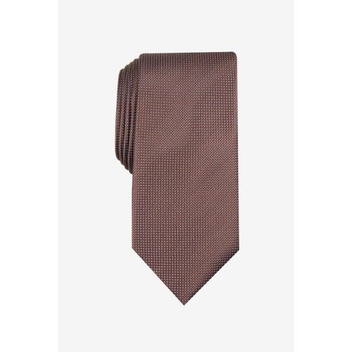 Club Room Men's Classic Neat Dot Tie Brown Size Regular