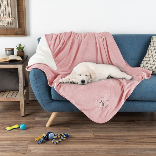 Waterproof Pet Blanket-50 in.x60 in. Soft Plush Throw Protects