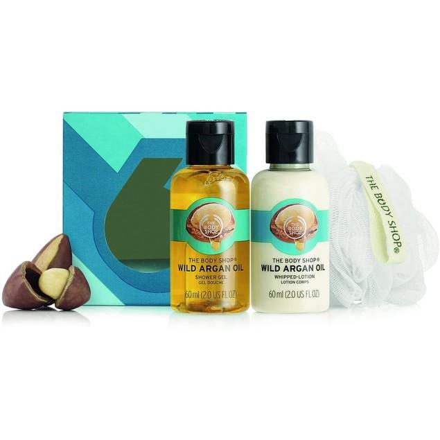 The Body Shop 3 Pc. Treats Cube Gift Set, Wild Argan Oil Gel, Lotion & Bath