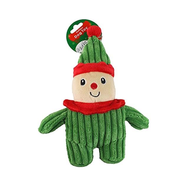Midlee Christmas Corduroy Dog Toy (Elf)