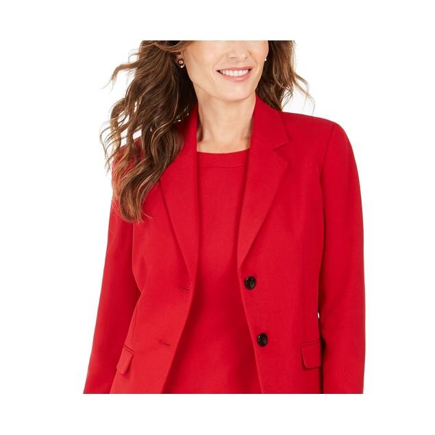 Kasper Women's Notched Lapel Blazer Medium Red Size 1