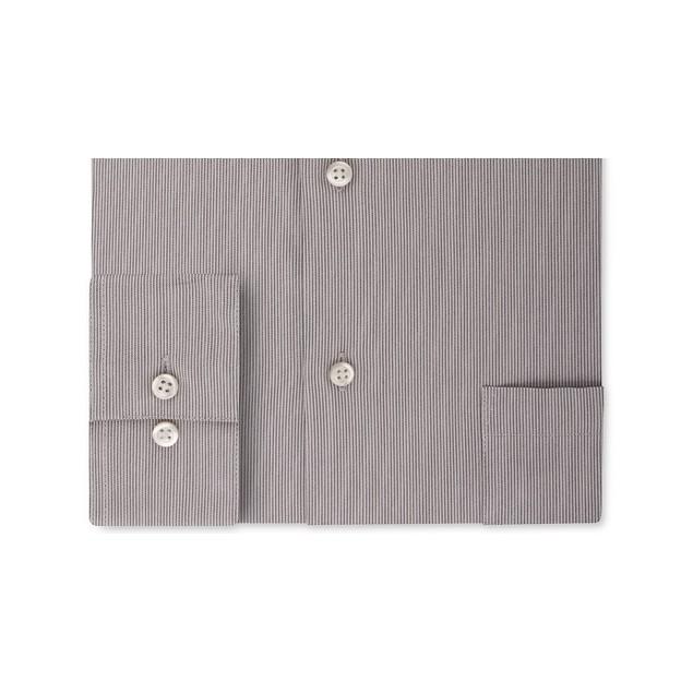 Van Heusen Men's Fit Flex Collar Stripe Dress Shirt Gray Size 15-32-33