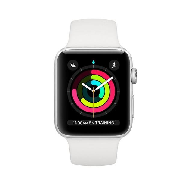 Apple Watch Series 3 38mm, GPS, Silver, 8 in, 1.5 in Screen