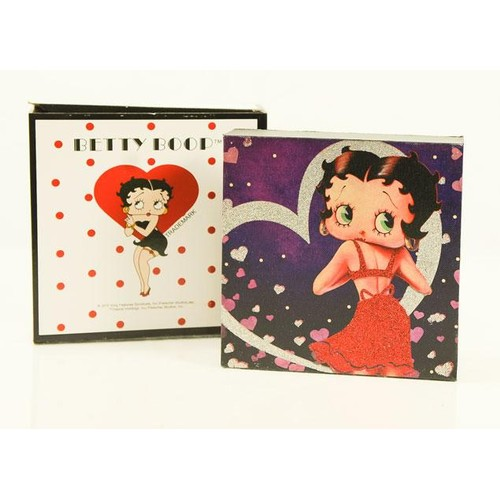 """Westland Betty Boop """"Lovely In Red"""" Glitter Canvas 8X8 Home Decor"""