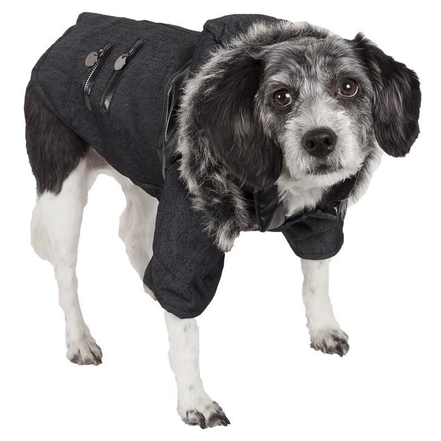 Ruff-Choppered Denim Fashioned Pet Coat