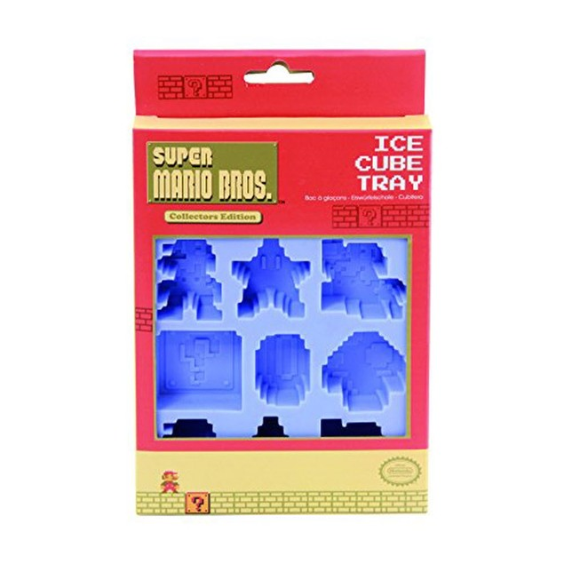 Super Mario Bros. Ice Cube Tray Brothers Mushroom Star Block Nintendo NES