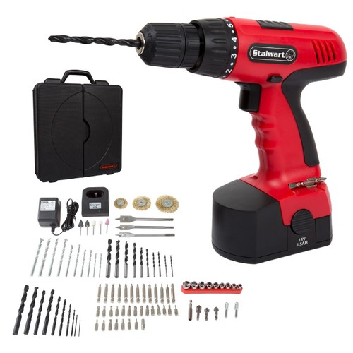 Cordless Drill Set- 89 Piece Kit, 18-Volt Power Tool with Bits, Sockets