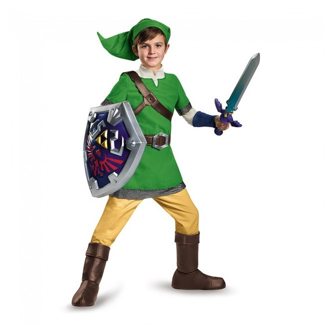 Link Legend Of Zelda Deluxe Child Costume Legend Of Zelda Nintendo Video