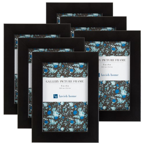 Black Picture Frame 4x6, Set of 6 By Lavish Home
