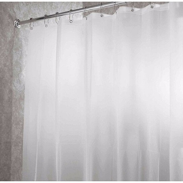 2-Pack: Heavy-Duty Magnetic Mildew Resistant Vinyl Shower Curtain Liners