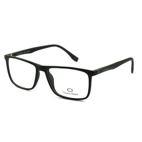 Charles Delon Men's Eyeglasses MZ0706 C1 Matte Black 53 16 140 Rectangle Plastic