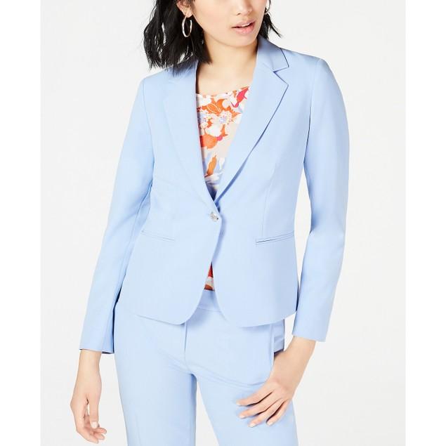 Bar III Women's One-Button Blazer Blue Size 12