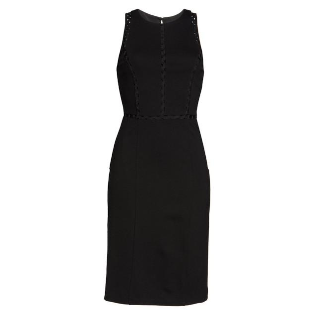 Ali & Jay First Point Rickrack Sleeveless Trim Sheath Dress, Small, Black