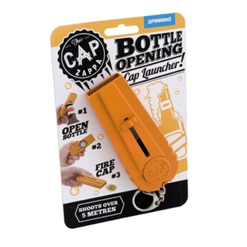 Cap Zappa Beer Bottle Opener Cap Launcher Shooter Spinning Orange Adult