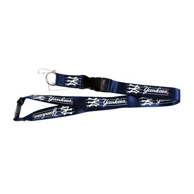 New York Yankees Lanyard Keychain Id Ticket Clip - Blue