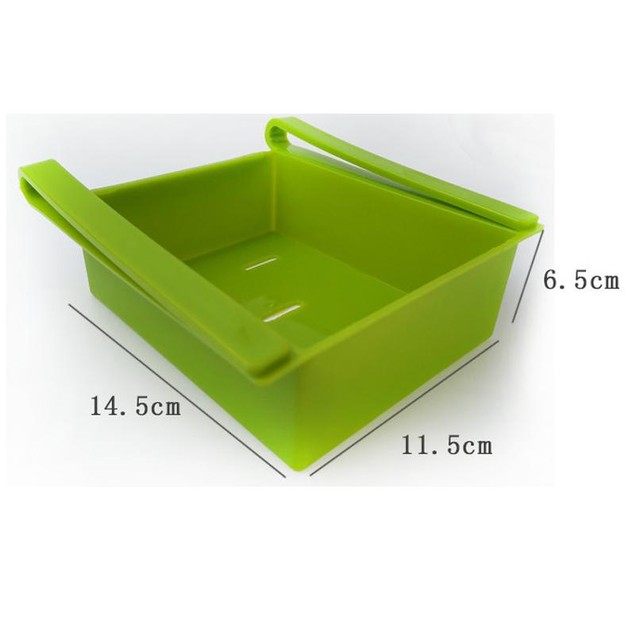 4 Pcs Multifunctional Refrigerator Compartment Sorting Storage Box (Random Color)