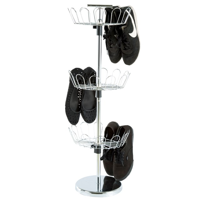 Three Tier Revolving Shoe Rack by Lavish Home