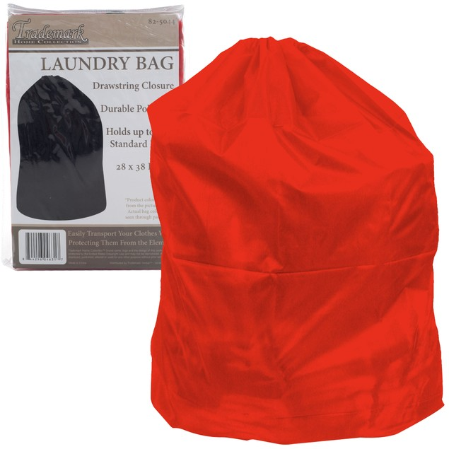 Heavy Duty Jumbo Sized Nylon Laundry Bag - RED