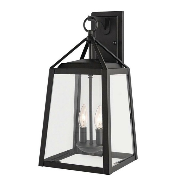 Home Decorators Collection Blakeley 2-Light Outdoor Wall Lantern, Black