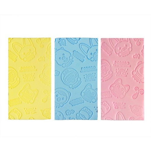 3-Pack Scrubbing Sponge Artifact for Infants and Toddlers in Random Colors