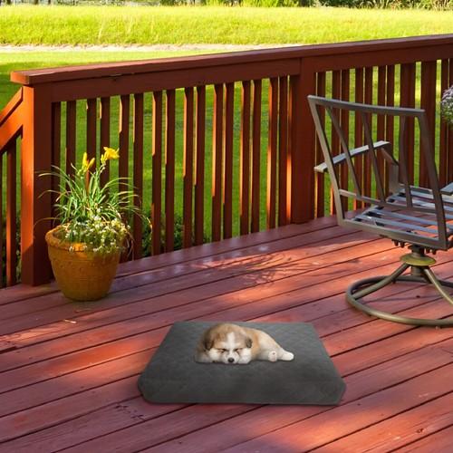 Waterproof Memory Foam Pet Bed Water Resistant Non-Slip Bottom