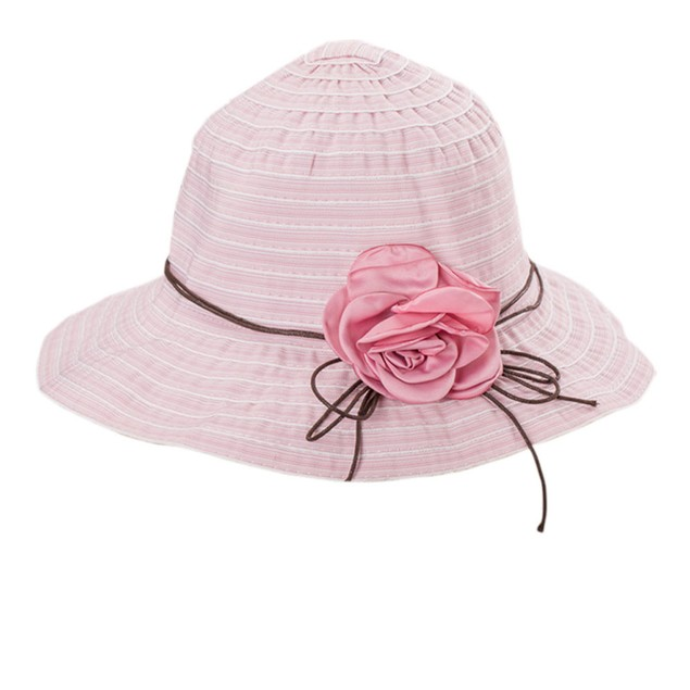 Summer Girl Women Wide Brim Beach Sun Hat Elegant Flower Boho Cap