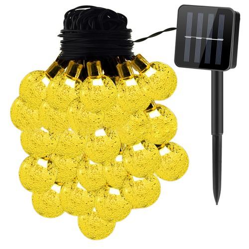 Globe String Solar Lights 30 Ball LED Fairy Solar Lamps 8 Lighting Modes