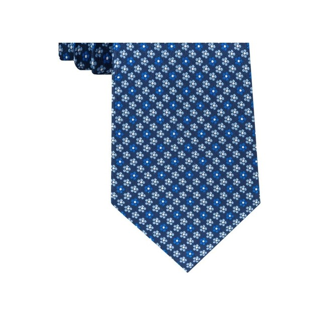Club Room Men's Classic Floral Neat Silk Tie Navy Size Regular