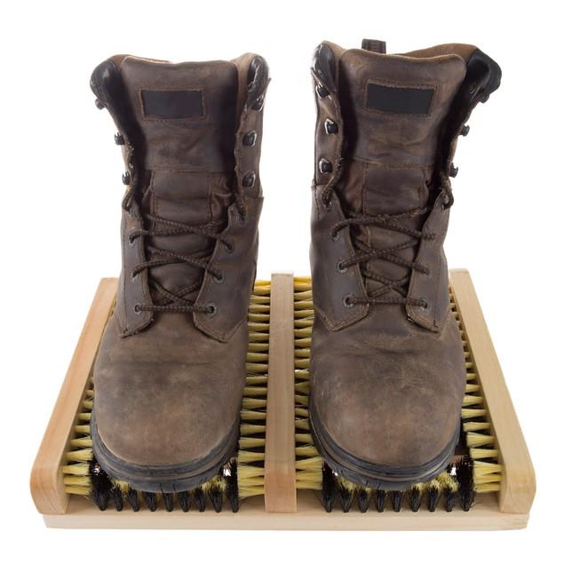 Boot and Shoe Cleaner Scrubber Brush Scraper Mat