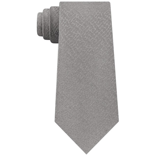 Calvin Klein Men's Leopard Outline Tie Gray Size Regular
