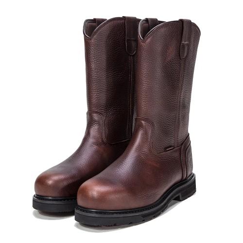 ROCKROOSTER Men's Work Boots Pull On Steel Toe Waterproof Leather