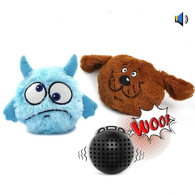 Interactive Plush Giggle Ball Shake Squeak Toys Exercise Electronic Toys