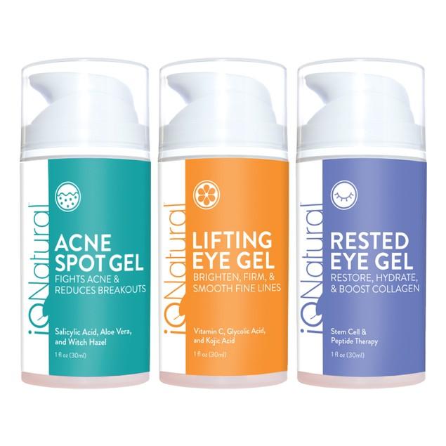 3-Pack IQ Natural Eye Gel Bundle - Advanced Plant Based Formulas