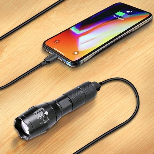 USB Rechargeable Flashlight & Powerbank
