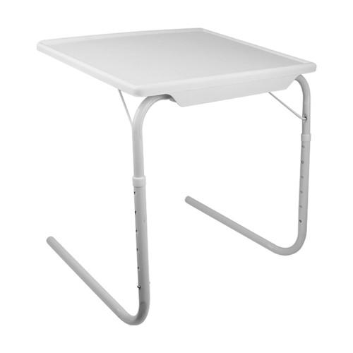Foldable Tray Table Portable Sofa TV Tray 6 Heights 3 Angles