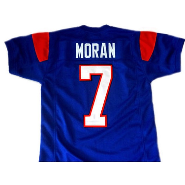 Alex Moran #7 Blue Football Jersey