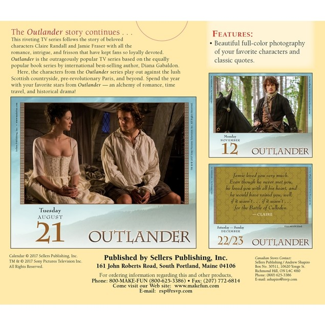 Outlander Desk Calendar, Drama TV by Calendars