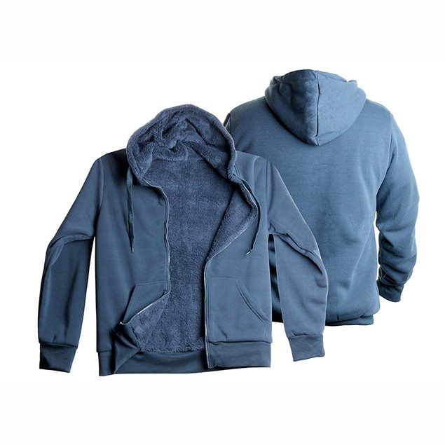Men's Heavy Sherpa-Lined Fleece Hoodie