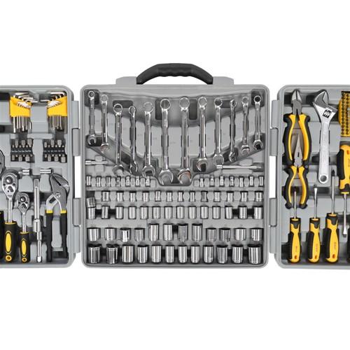 205Pc Tool Kit Gray