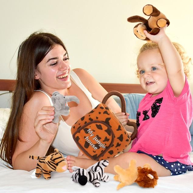 Hakol Jungle Educational Set - Realistic Sounding Stuffed Animals