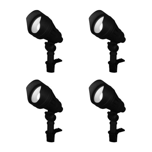 Hampton Bay Millennium Black Adjustable Light Color Outdoor Integrated, 9.8