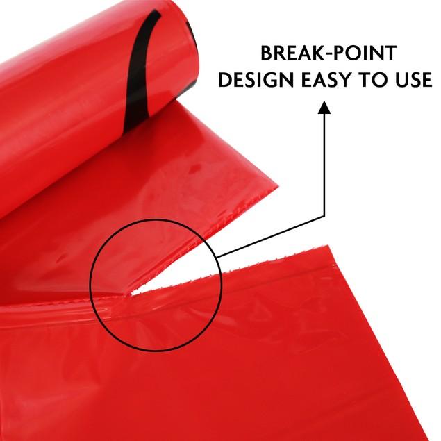 50-Pack of 10 Gallon Biohazard Waste Trash Bags No Leak Hazard Symbol