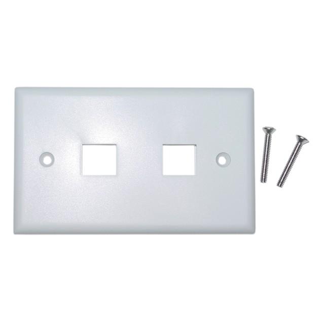 Keystone Wall Plate, White, 2 Hole, Single Gang