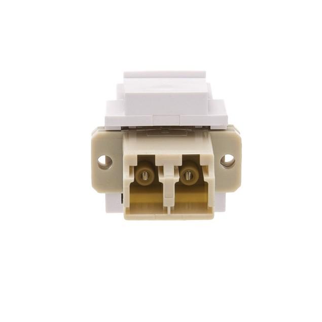 Keystone, White, LC Fiber Optic Network Coupler