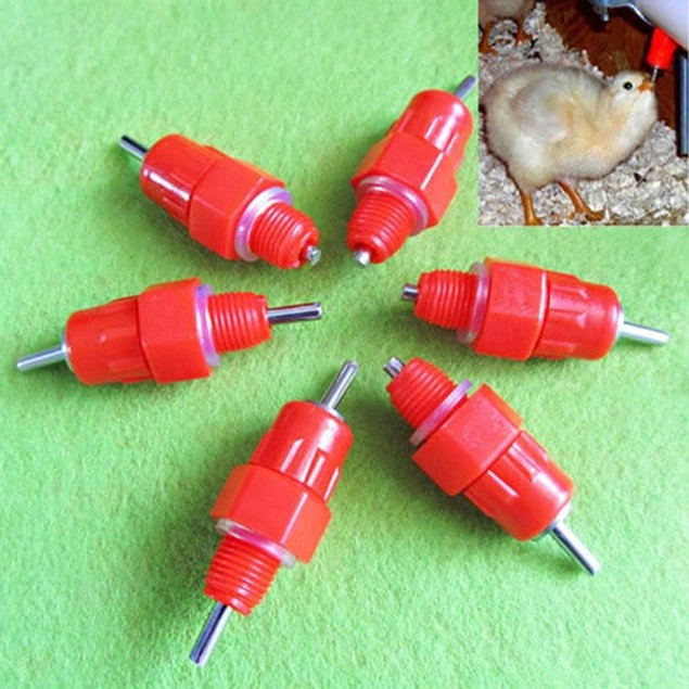 5/10Pcs Poultry Water Drinking Nipples Chicken Duck Feeding Drinker Tap